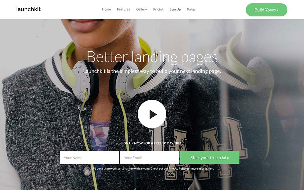 Landing Page WordPress Themes | Launchkit