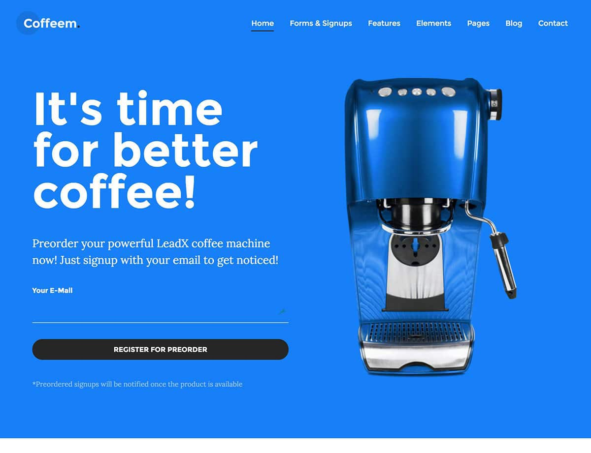 Landing Page WordPress Themes | Leadx