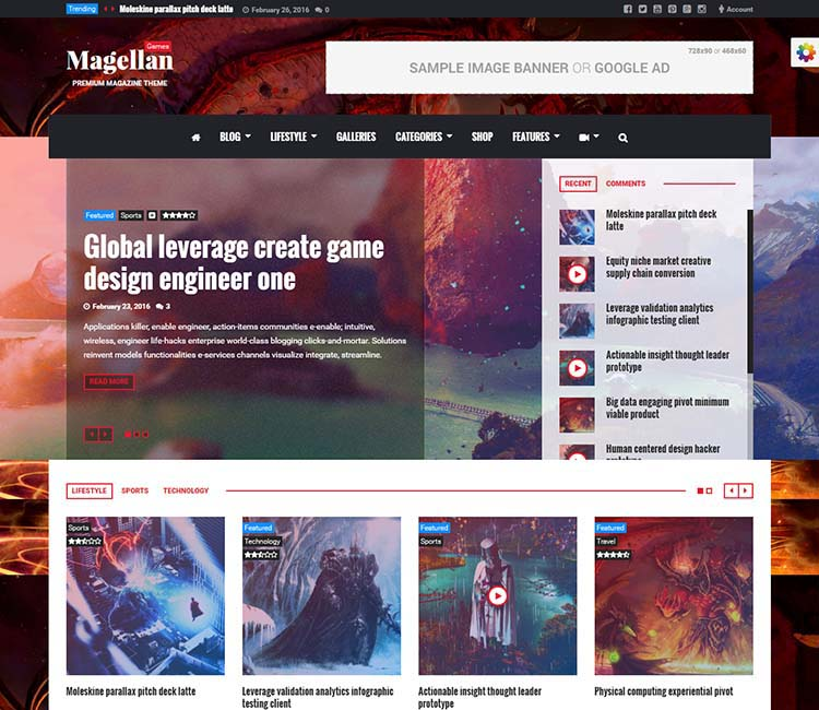 Best WordPress Gaming Themes 2017 | Magellan