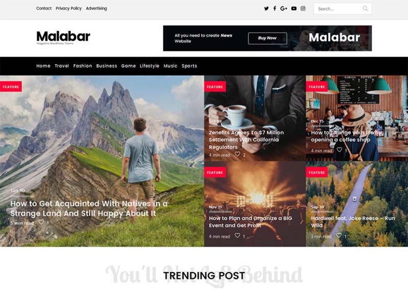 Best WordPress Gaming Themes 2017 | Malabar