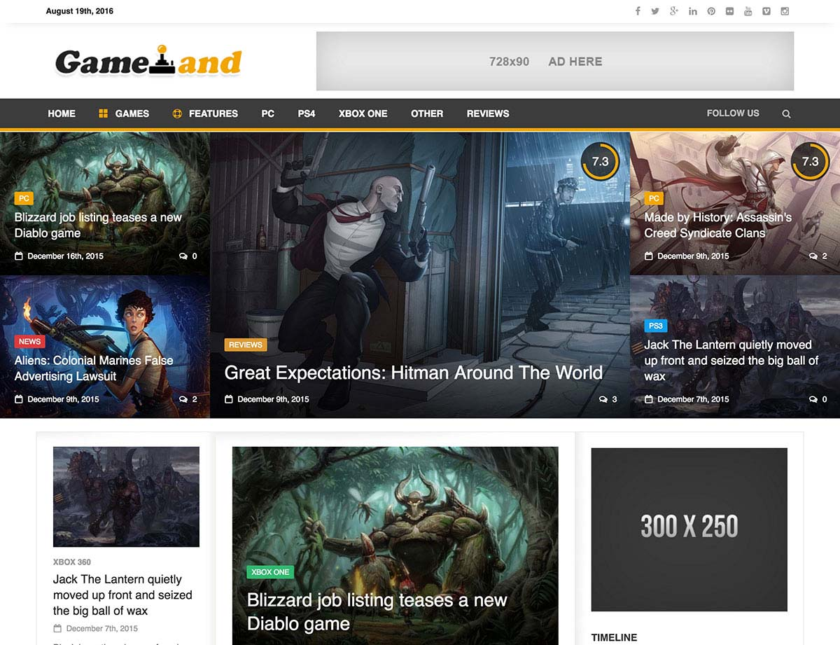 Best WordPress Gaming Themes 2017 | NewsGamer