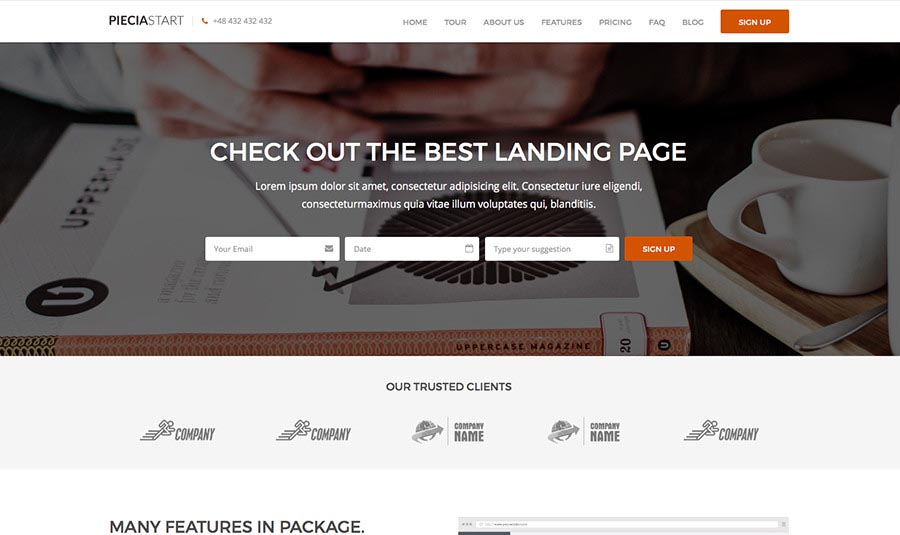 Landing Page WordPress Themes | Piecia
