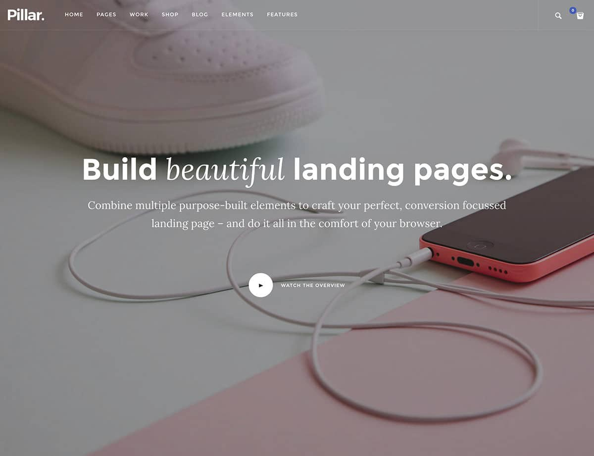 Landing Page WordPress Themes | Pillar