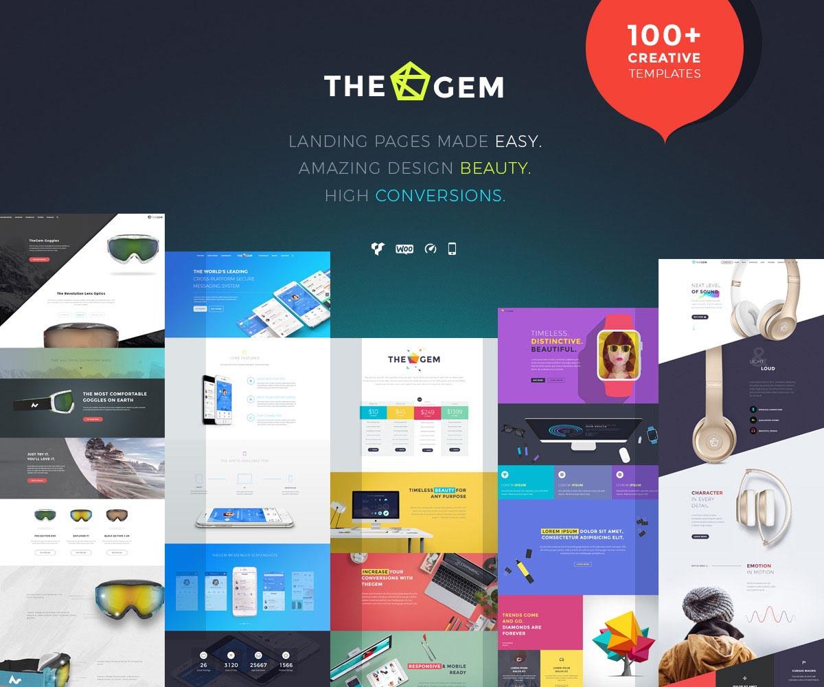 Landing Page WordPress Themes | The Gem