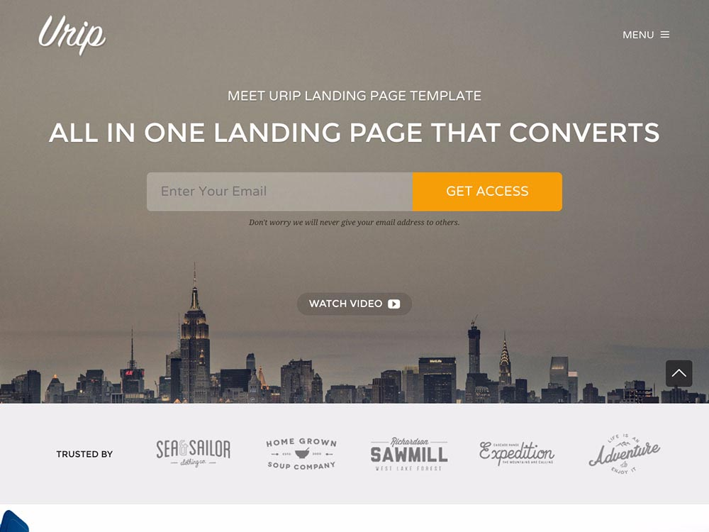 Landing Page WordPress Themes | Urip