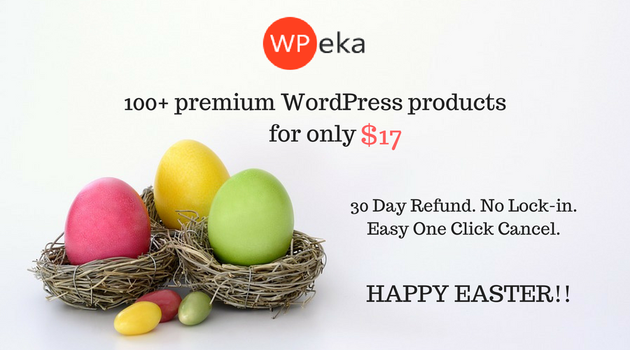 100+ premium WordPress products for only $17