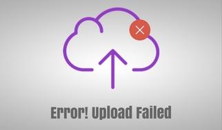 Error upload failed