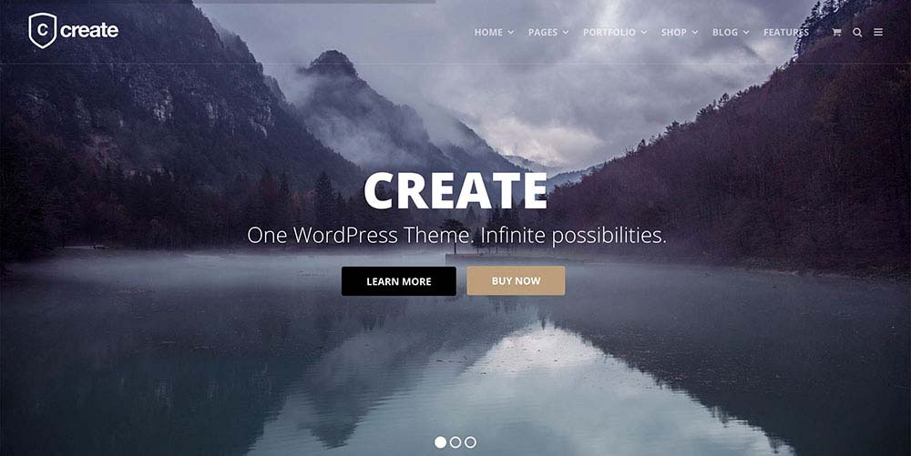 Parallax Scrolling WordPress Themes | Create
