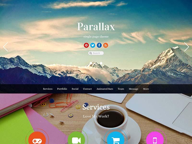 Parallax Scrolling WordPress Themes | Parallax