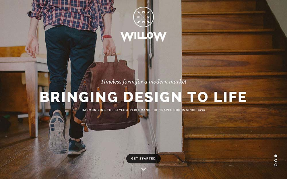 Parallax Scrolling WordPress Themes | Willow
