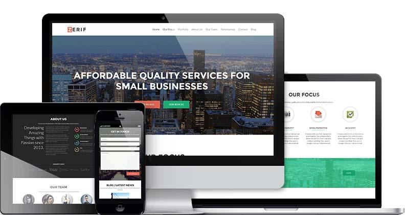 Parallax Scrolling WordPress Themes | Zerif Pro