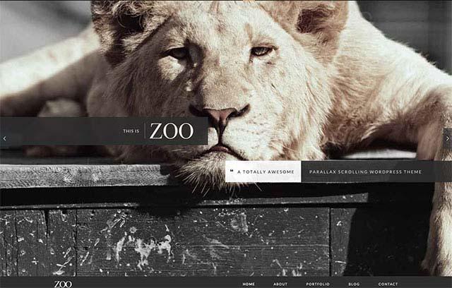 Parallax Scrolling WordPress Themes | Zoo