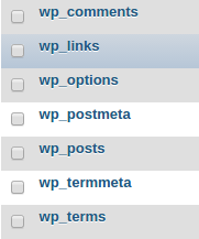 wp options table