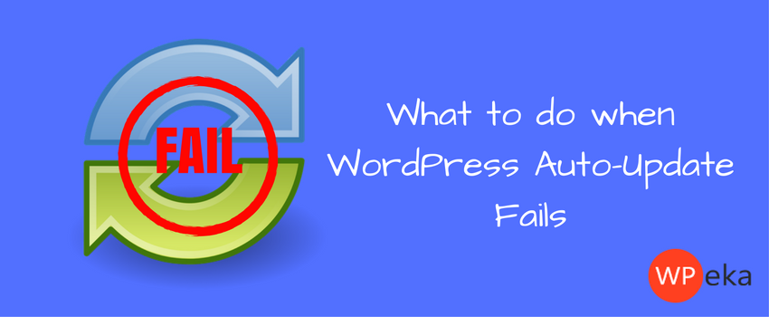 What to do when WordPress auto-update fails