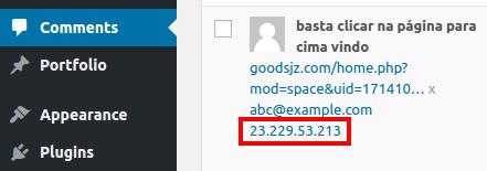 comment IP address