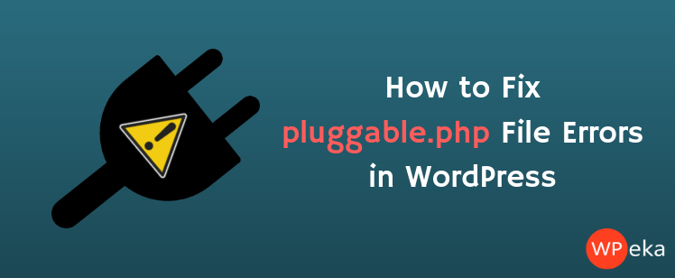how to fix pluggable.php errors in WordPress