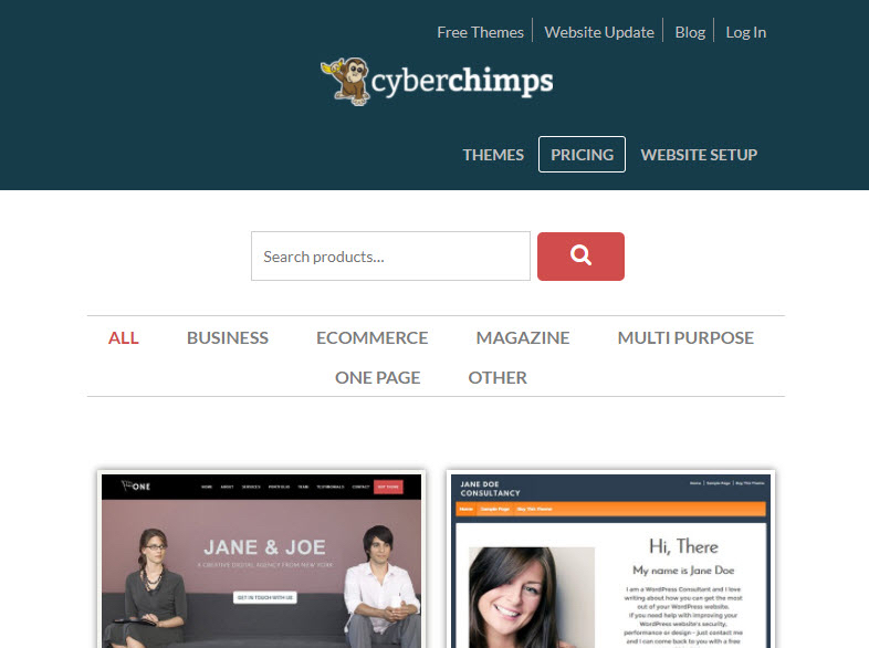 cyber chimps wordpress theme
