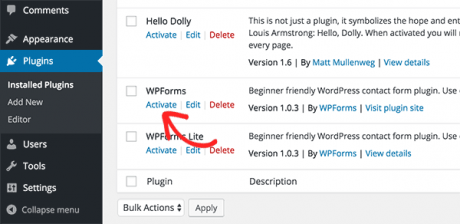 wpform wordpress contact form