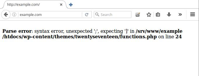 How to fix Parse error: syntax error in WordPress