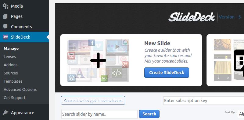 Create SlideDeck