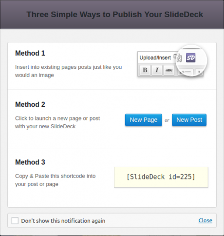 ways to publish slidedeck