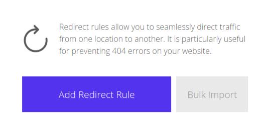 KInsta redirects tab