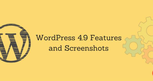 WordPress 4.9 Features and Screenshots