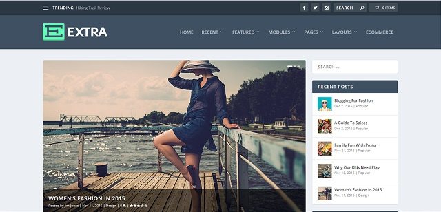 extra WordPress fitness theme