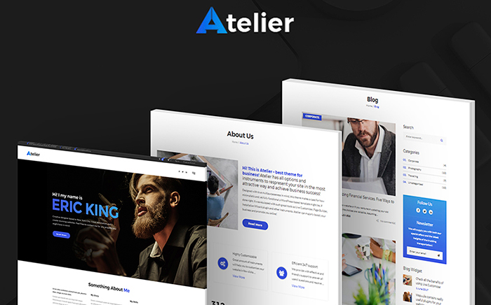Atelier Design & Photography Template WordPress Theme