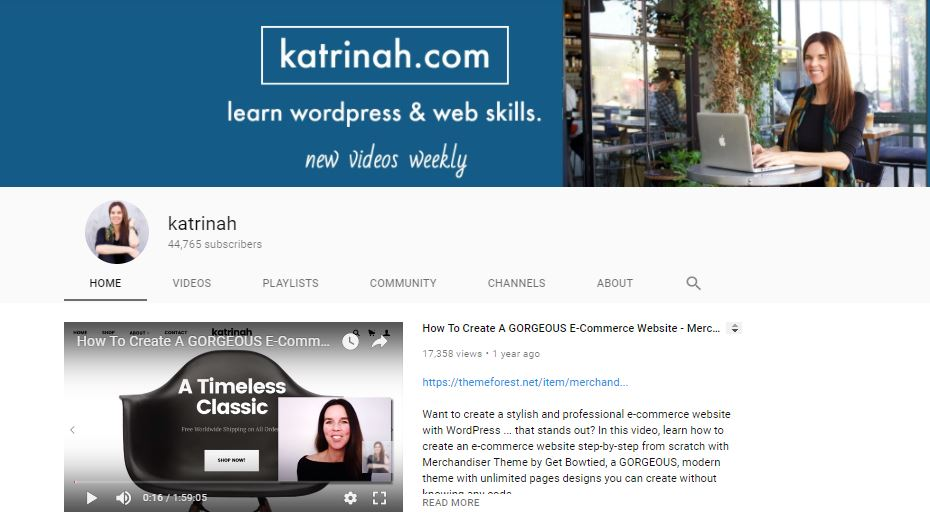 katrinah youtube channel