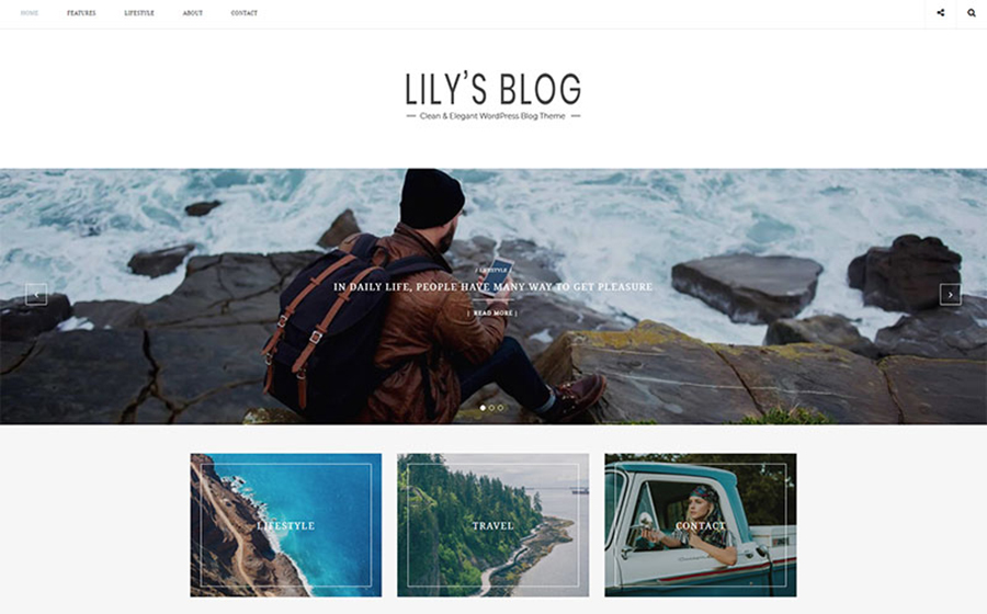 Lily - Clean & Elegant Blog WordPress Theme