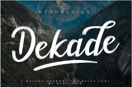 dekade-free-swash-font