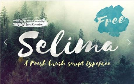 selima-free-brush-font