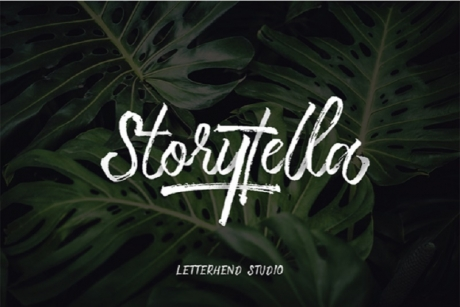 storytella-free-brush-font