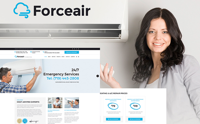 Air Conditioner Services WP Theme