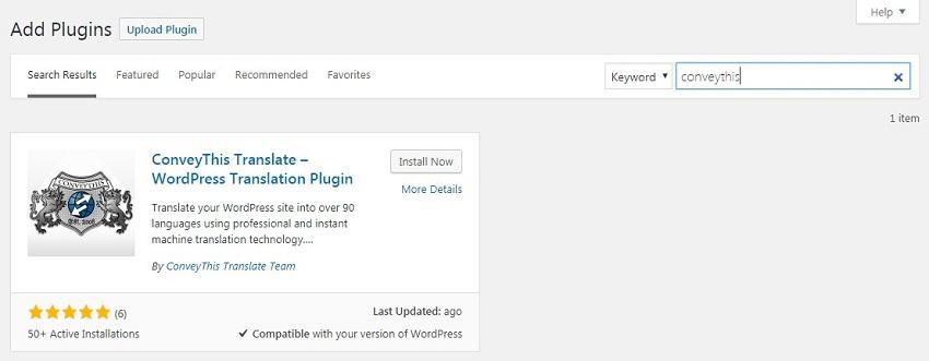WordPress Translator Plugin