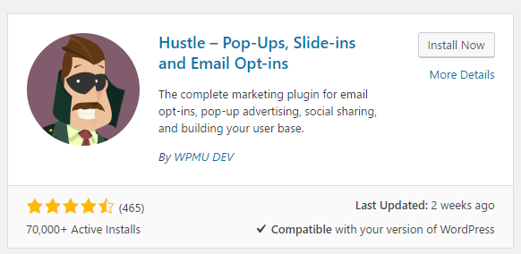Hustle WordPress email plugins