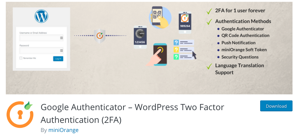 Google Authenticator WordPress security plugins