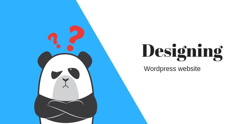 designing Wordpress website