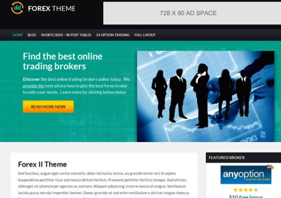 forex website theme