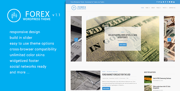 Forex Website Theme