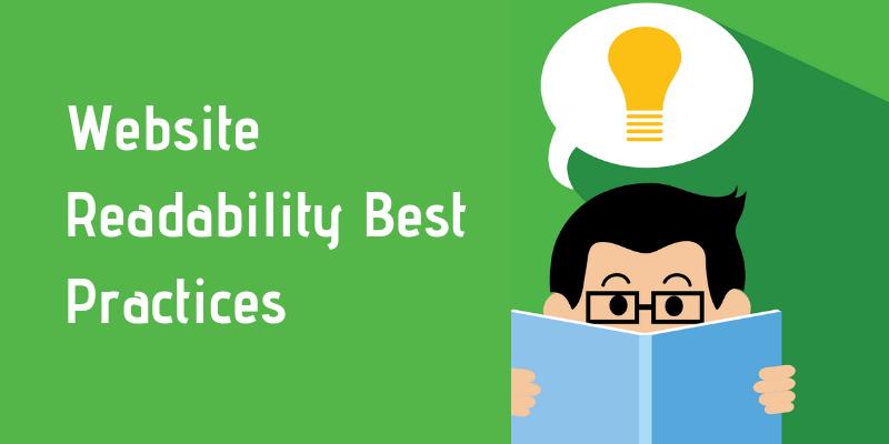website readability best practices