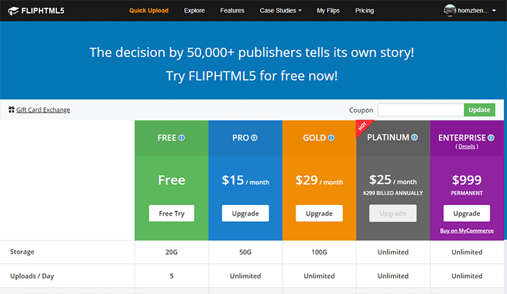 Flipping eBooks Pricing