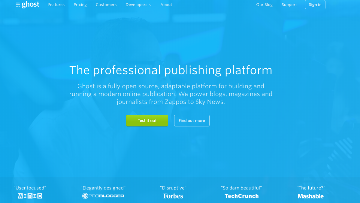 Ghost WordPress alternative