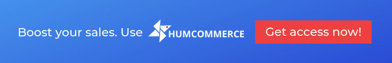 Boost your sales. use HumCommerce