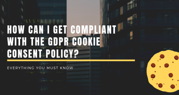 How can a website comply with GDPR cookie policy?
