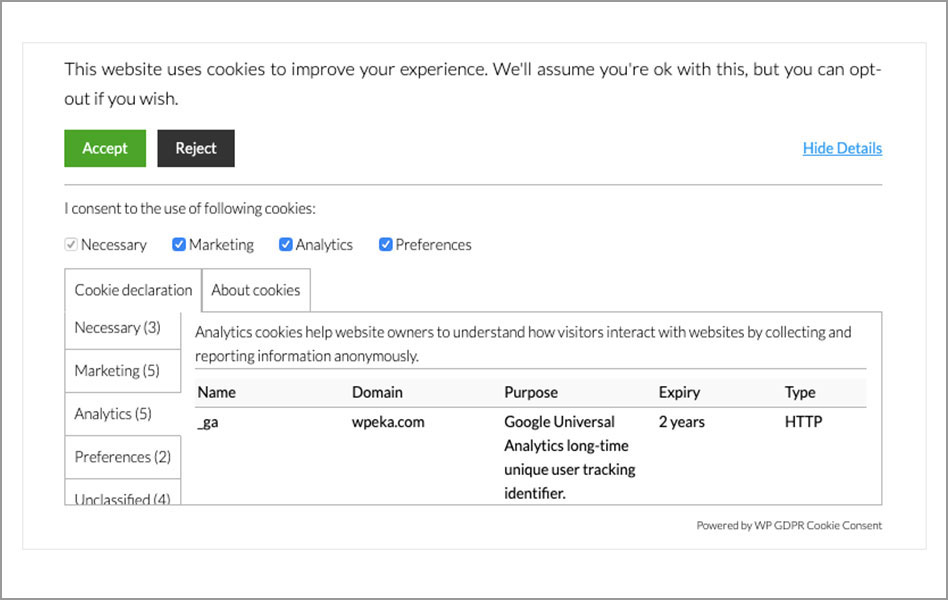 WordPress-GDPR-Plugin-For-Cookie-Consent-WPeka