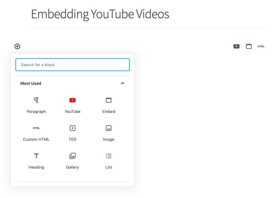 embedding-youtube-video-gutenberg-block