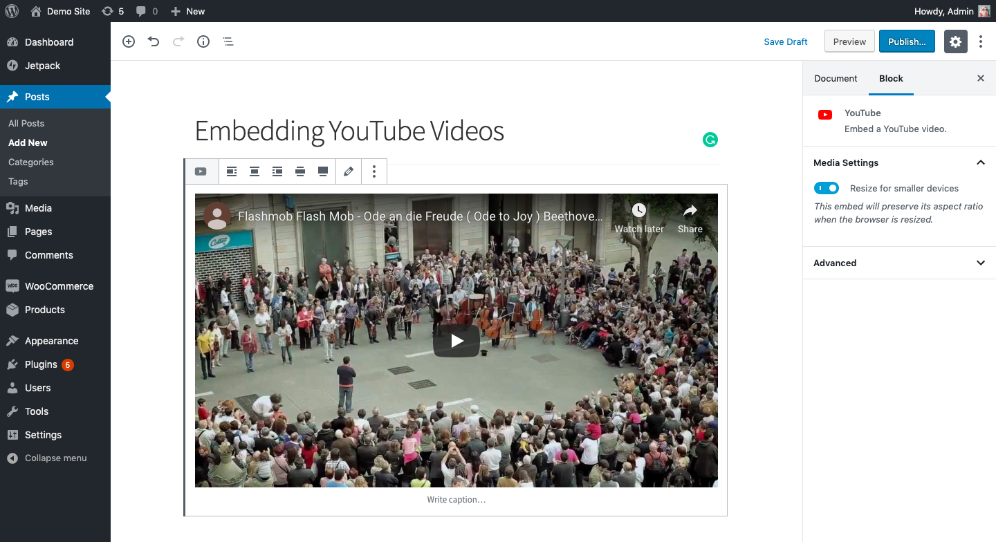 embedding-youtube-video-using-url-gutenberg