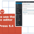 How to use the Classic Editor with WordPress 5.4